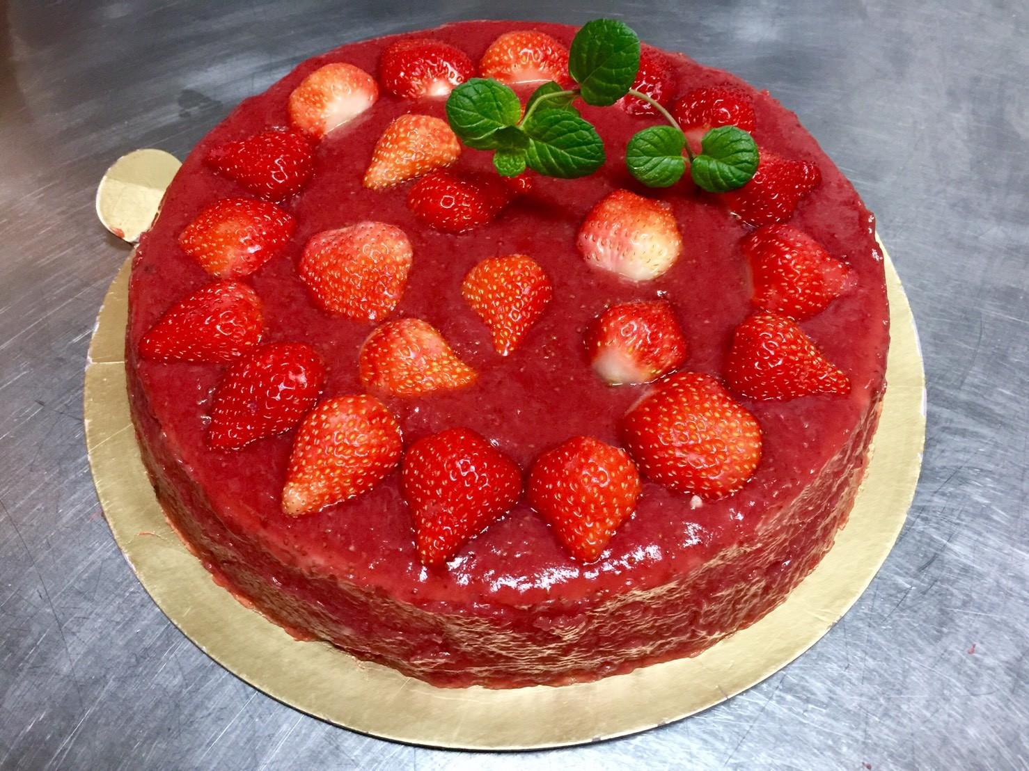 wei甜/【自製新鮮草莓醬乳酪蛋糕】- B款(8吋)