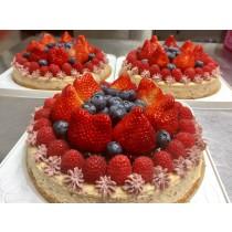 wei甜/【草莓莓果8吋乳酪蛋糕】- A款(另有6吋)